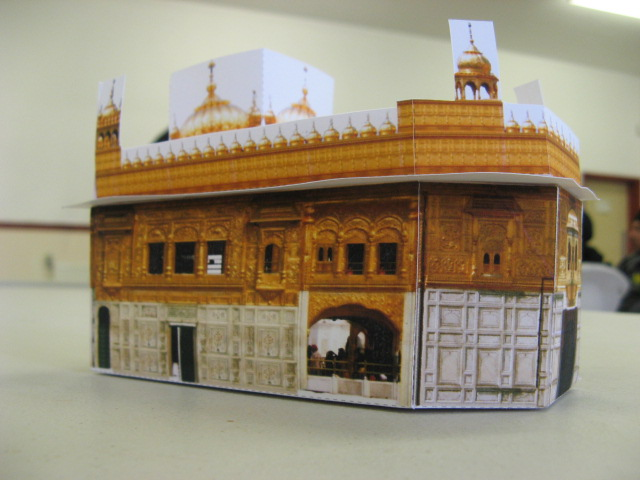 Papercraft golden temple taran3d for How to make paper temple