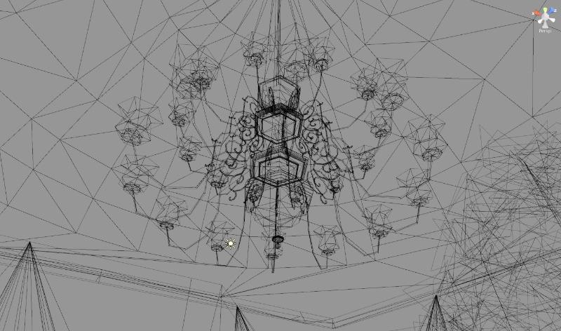 line-chandelier