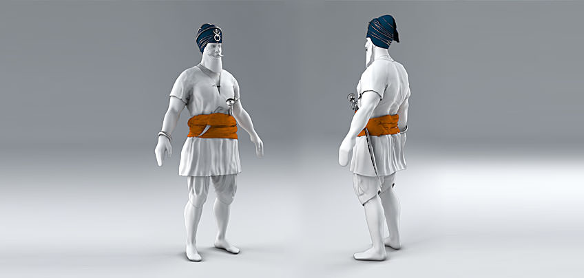 3D model of 17th Century Sikh Soldier